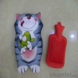 Animal Hot Water Bottle Cover with Hot Water Bottle Set