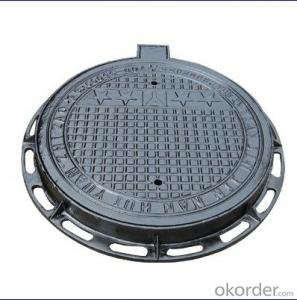 DI manhole with  Bitumen Painting Cover D400/C250 Round Shape