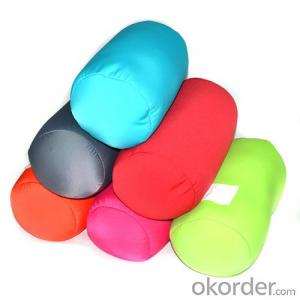 Colorful Plain Tube Pillow filled with microbeads