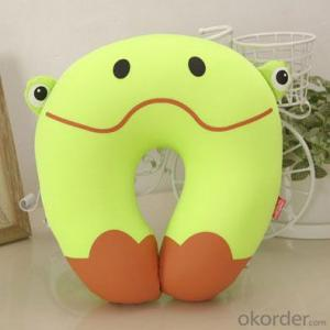 Polystyrene travel pillow of Cute Frog Shape
