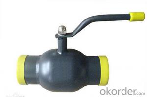 Full Welded Ball Valve API 6D, ASME  Size: 6