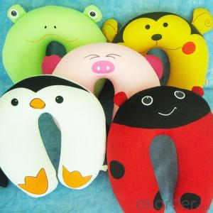 Cute Travel Pillow Filled with Polystyrene Beads