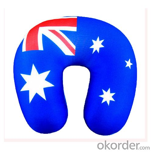 Travel Pillow With Australia National Flag Printing