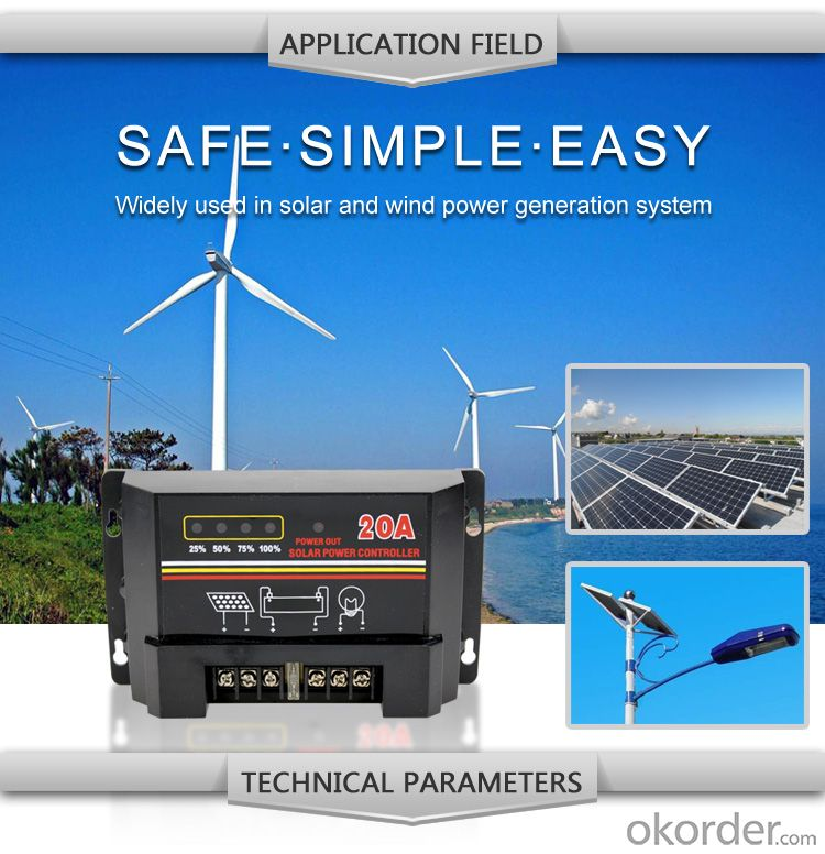 Solar LCD Controller with Best Price Hot Selling Model DM120A