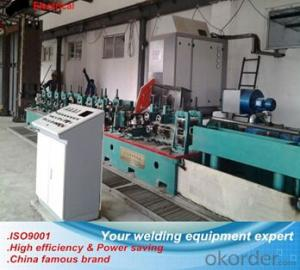 Tube mill solid state high frequency welder for small diameter pipe