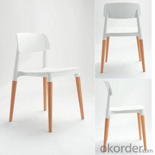 wooden dining chair plastic modern cheap polypropylene (pp)