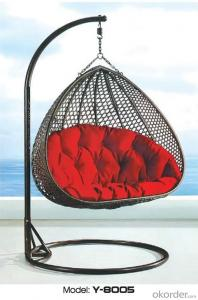 Love Seat Outdoor Swing Sets / Patio Swings for Lover or Couple in Iron Frame