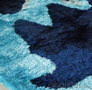 100% Polyester Long Pile Shaggy Carpet with Modern Design