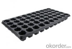Square Nursery Seeding Tray  HIPS Seed Tray Plastic Tray
