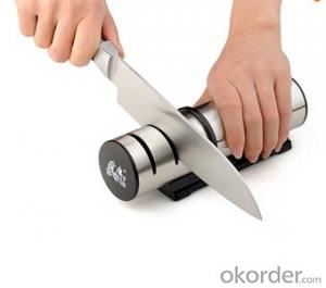 Diamond Knife Sharpener with 3 Stages Ceramic&Steel