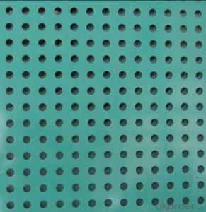 PVC coated Decorative perforate metal sheet