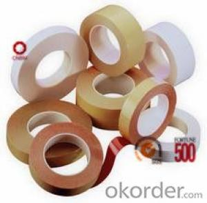 Adhesive Tape with Double Sided Tissue Brown Color Round