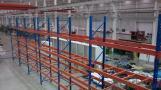 Sistema de paletización de almacén para mercancías pesadas.