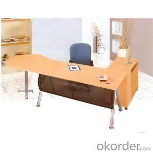 Classic Design Wooden Office Executive Table with Side Cabinet