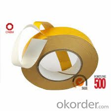 Tissue Tape Double Sided Yellow Color Solvent Based Acrylic
