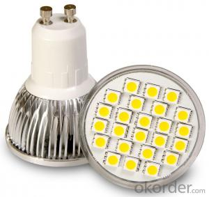 LED Spotlight 6w gu10 with high power effect