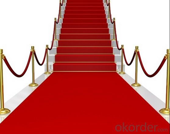 Stair Red Exhibition Carpet Runner Red carpet roll for wedding