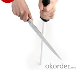 12'' Knife Sharpening System Ceramic Rods for Knives