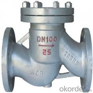 API Cast Steel Lift Check Valve A351-CF8 Body Material