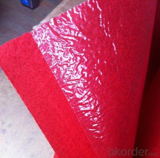 plastic film exhibition carpet big red exhibition carpet