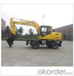 wheel excavator with  long reach boom & arm