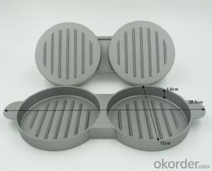 Cast Aluminum PP Handle Double Burger Press High Quality