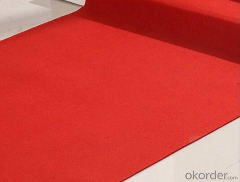 playground red pet non woven fabrics carpet