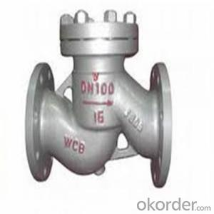 API Cast Steel Lift Check Valve A216 WCB Body Material