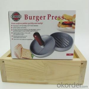 BBQ Hamburger Press /Meat Press with Wood Handle