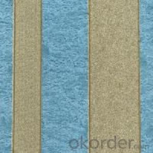 PVC Wallpaper Italian Design Deep Embossed Vinyl Stripe Wallpaper