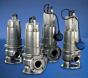 WQ(D)-S Stainless Steel Casting Sewage Submersible Electric Pump