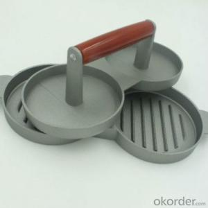 Double Aluminum Alloy Hamburger Press  Burger Presser