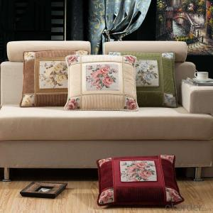 Home Cushion with Embroided Design for Furniture