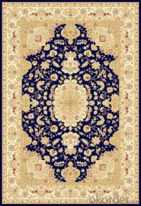 Viscose Wilton  Carpet and Rug Blue Color Commercial Carpet Tile