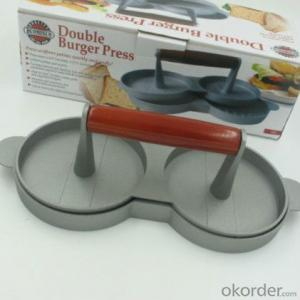 Double Manual Hamburger Presser for Meat
