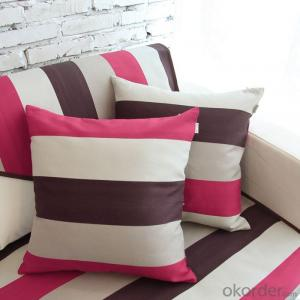Sofa Cushion with Square Shape and Stripes