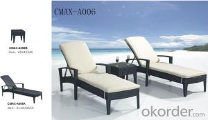 Outdoor Furniture Beach Lounger with Waterproof Cushion CMAX-A070