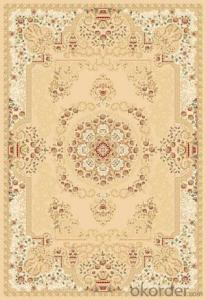 Viscose Rug Wilton Machine Beige Color Floor Carpet