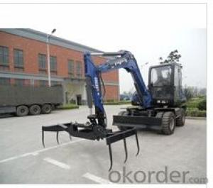 5ton wheel excavator with cotton grapple