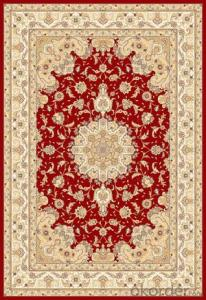 Viscose Rug Wilton Machine Red Persian Washable Area Rug