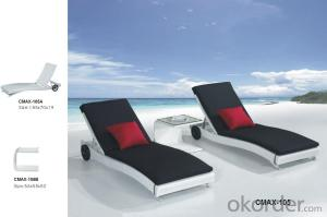 Outdoor Furniture Beach Lounger with Waterproof Cushion CMAX-105