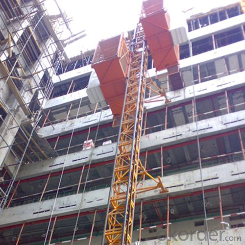 Construction Hoist SC150D,Produced and Decorated by Aluminum Molded Board, Punched-plate or Figured Aluminm Board