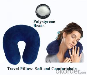 Plush Fabric Travel Pillow Protecting Your Neck