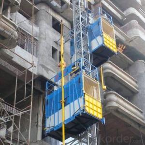 Construction Hoist Liftng New Twin Cage Lifter
