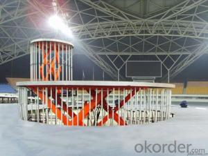 Car exhibition show stage plexiglass stage for trade show
