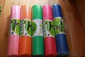 Rubber Yoga Mat with PVC Free and Fatigue Resistance