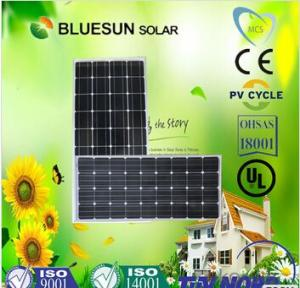 Monocrystalline Silicon Solar Modules 100Watt