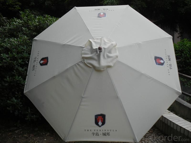 Customized Wooden Outdoor Umbrella with Promotional Activities