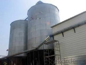 Hopper Bottom Galvanized Grain Steel Silo Used for Storing Rice