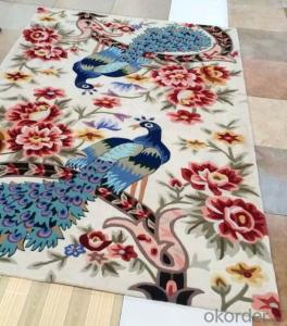 Hand Tufted Carpet with 100% Acrylic / Polyester Materials